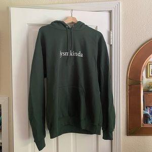 ilysmkinda green hoodie